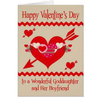 Valentinstag zur Patenttochter und zum Freund Karte