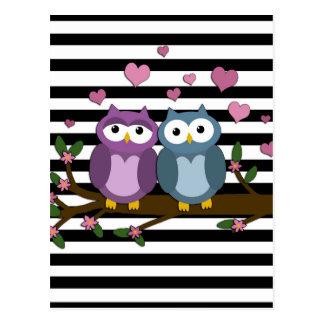 Valentinstageulen Postkarten