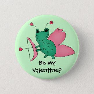 Valentinstagfroschamor Runder Button 5,1 Cm
