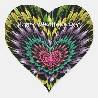 Valentinstagherz mit kundenspezifischem Text Herz-Aufkleber