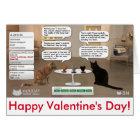 Valentinstagkarte für Katzenliebhaber Karte