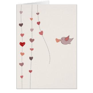Valentinstagvorbereitungen Grußkarte