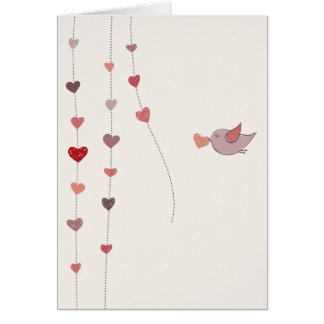 Valentinstagvorbereitungen Mitteilungskarte