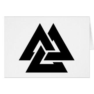 Valknut Symbol triquetra Karte