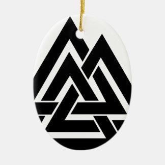 Valknut Viking Skandinavier-nordisches Keramik Ornament