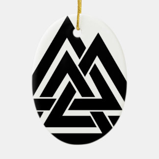Valknut Viking Skandinavier-nordisches Ovales Keramik Ornament