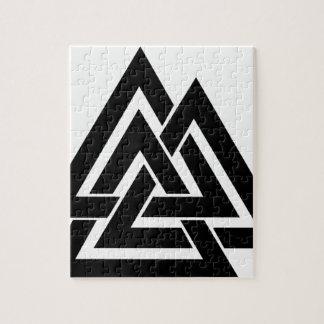 Valknut Viking Skandinavier-nordisches Puzzle