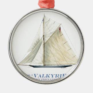 Valkyrie 1895 silbernes ornament
