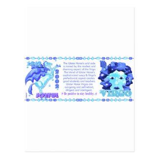 Valxart 1942 2002 Tierkreiswasserpferd geboren in Postkarte