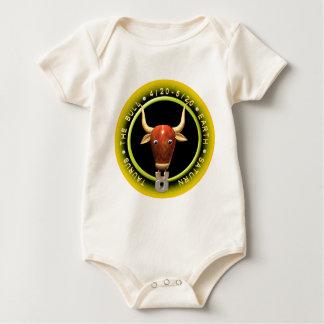 Valxart 1965 Schlangentierkreis Stier Holz-2025 Baby Strampler