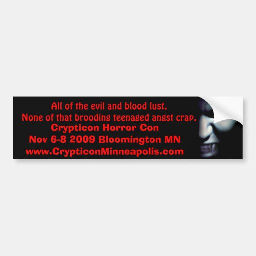 Vampir-Augeinspektion, alles Übel und Blutrünstigk Auto Aufkleber