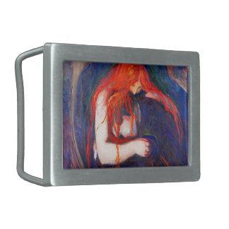 Vampir Edvard Munch Rechteckige Gürtelschnalle