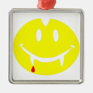 Vampir emoji Dracula Silbernes Ornament