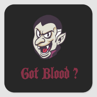 Vampir erhaltener Blut-Entwurf Quadratischer Aufkleber
