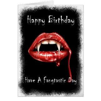 Vampir Geburtstags-Karte - haben Sie einen Fangtas Grußkarte