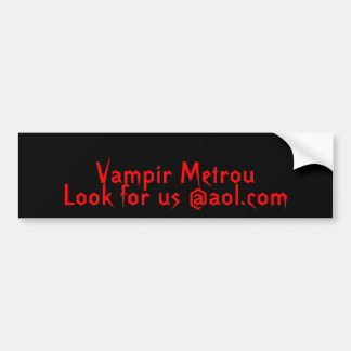 Vampir Metrou, suchen uns @aol.com Auto Sticker