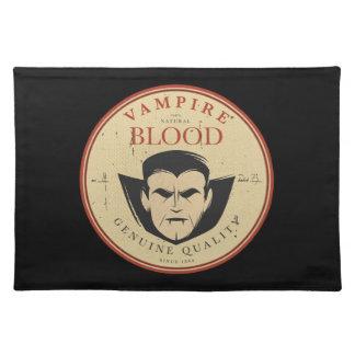 Vampire-Blut-Vintager Halloween-Aufkleber Stofftischset