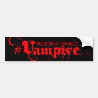 #Vampire - gotischer Grunge-Autoaufkleber
