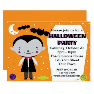 Vampire-Halloween-Party Karte