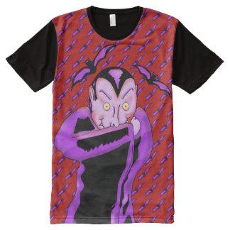 Vampire-Halloween-Platten-T - Shirt