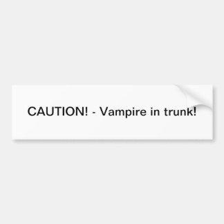 Vampire im Stamm - Autoaufkleber