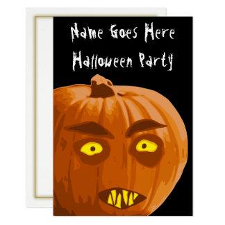 Vampire-Kürbis-Halloween-Party-Einladung Karte