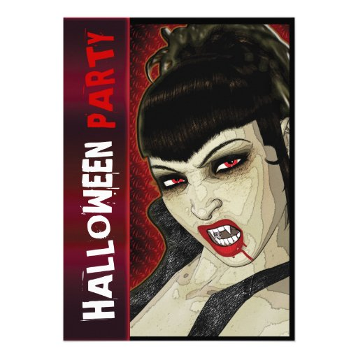 Vampire-Party-Comic-Spaßkinder Individuelle Ankündigskarten