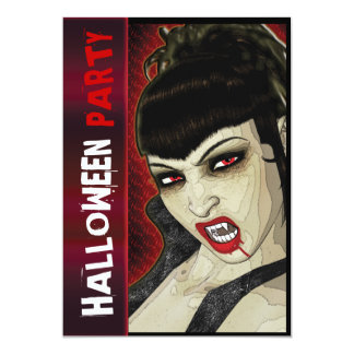 Vampire-Party-Comic-Spaßkinder 12,7 X 17,8 Cm Einladungskarte
