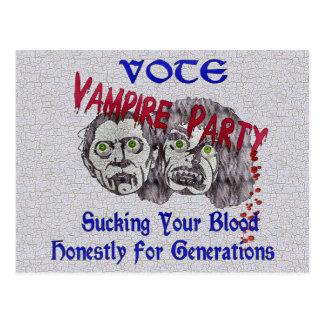 Vampire-Party Postkarte