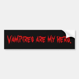 Vampire sind mein Held Autoaufkleber
