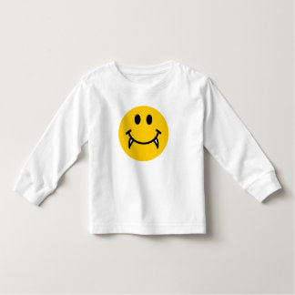 Vampire-Smiley mit Reißzähnen Kleinkinder T-shirt