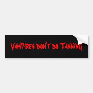 Vampires tun nicht bräunenden Autoaufkleber