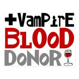 Vampirs-Blutspender Postkarte