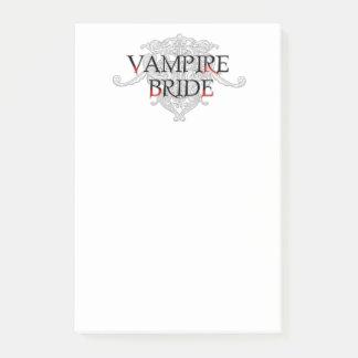 Vampirs-Braut Post-it Klebezettel