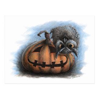 Vampirs-Eule - Halloween-Postkarte Postkarte