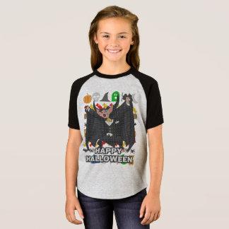 Vampirs-hässliche Strickjacke-Art glückliches T-Shirt