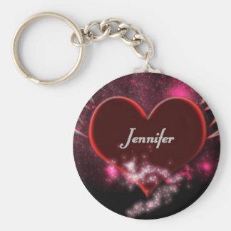 Vampirs-Herz Jennifer Standard Runder Schlüsselanhänger