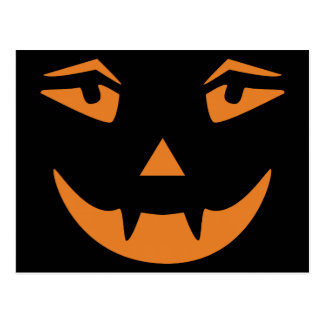 Vampirs-Kürbis-Gesicht Postkarte