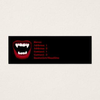 Vampirs-Lächeln-dünne Visitenkarte