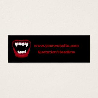 Vampirs-Lächeln-dünne Website-Karte Mini-Visitenkarten
