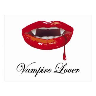 Vampirs-Liebhaber Postkarte
