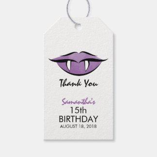 Vampirs-LippenGoth Geburtstag danken Ihnen Geschenkanhänger