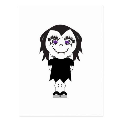 Vampirs-Mädchen-voller Körper Postkarte