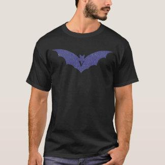 Vampirs-Meuchelmörder-Schild - blaues Psy T-Shirt