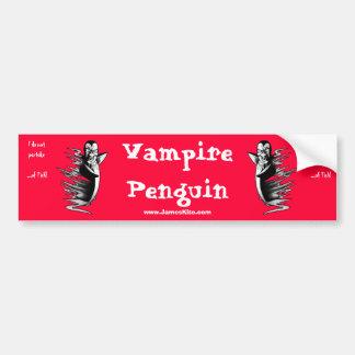 Vampirs-Pinguin: Ich nehme… nicht von den Fischen  Auto Aufkleber