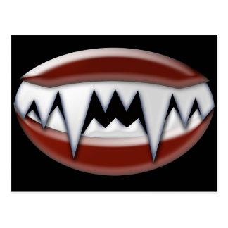 Vampirs-Reißzähne Postkarte
