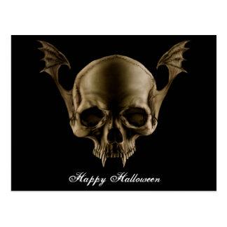 Vampirs-Schädel-Postkarte Postkarte