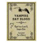 Vampirs-Schläger-Blut-Halloween-Rezept-Karte Postkarte
