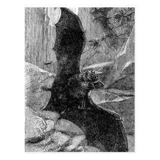 Vampirs-Schläger-Illustration 1885 Postkarte