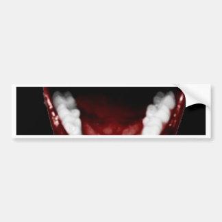 Vampirs-Zähne Autosticker